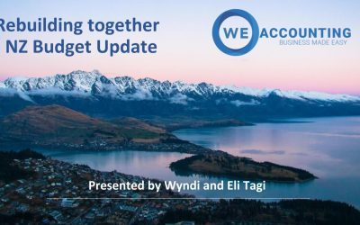 Rebuilding Together NZ Budget Update